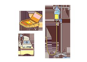 医療処置と各種機械の管理